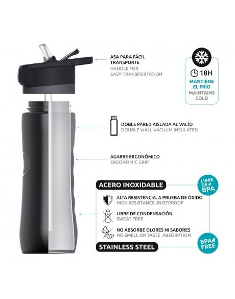 Botellas reutilizables - Botella térmica modelo Spring 600 ml Quokka - 3