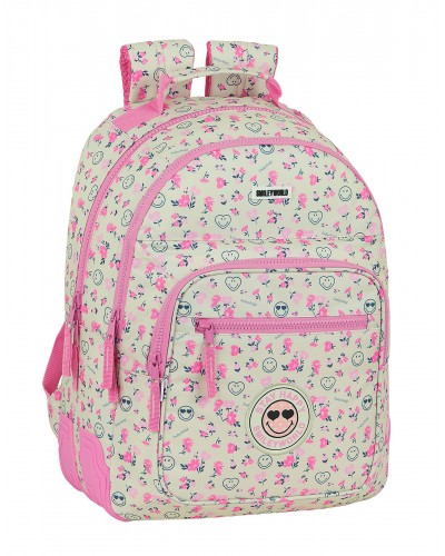 escolares - Mochila doble 15L Smiley World Garden de Safta - 0