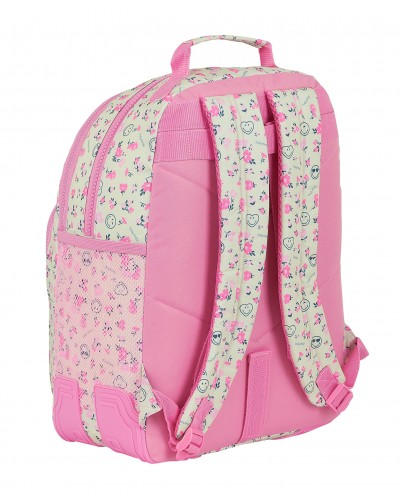 escolares - Mochila doble 15L Smiley World Garden de Safta - 1