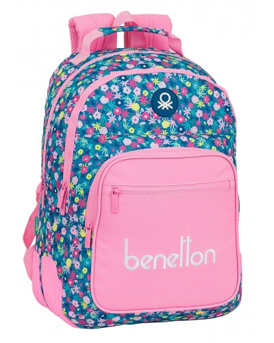 "escolares - Mochila doble 15L Benetton ""Blooming"" de Safta - 0"