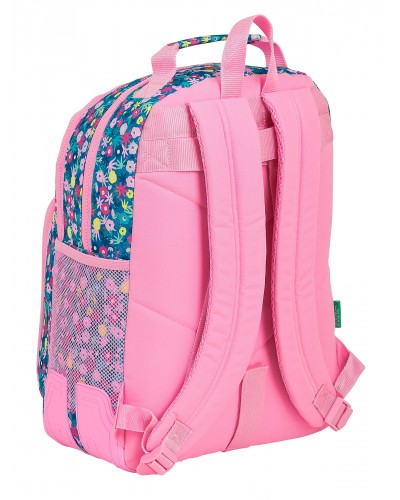"escolares - Mochila doble 15L Benetton ""Blooming"" de Safta - 1"
