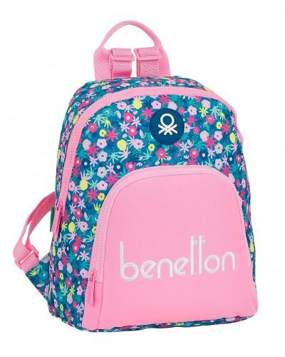 "escolares - Mini mochila 13L Benetton ""Blooming"" de Safta - 0"