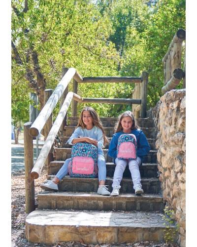 "escolares - Mini mochila 13L Benetton ""Blooming"" de Safta - 1"