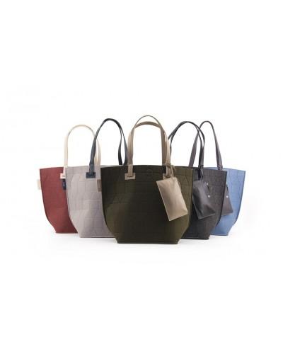 tote-bags - Shopping bag Feltbag + pouch de Rilla Go Rilla - 1