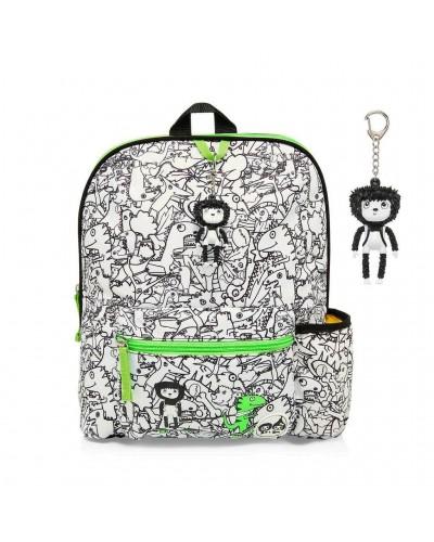 escolares - Mochila Midi Dino Black & White de Zip & Zoe - 0