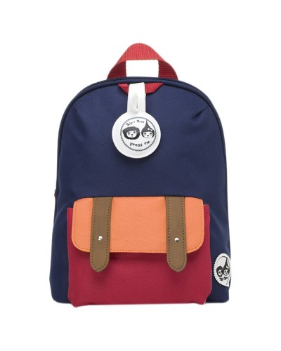 escolares - Mochila Mini Navy Colour Block de Zip & Zoe - 0