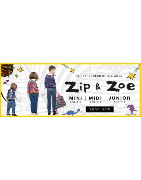 Escolares - Mochila Zip & Zoe Mini Pink Colour Block - 10