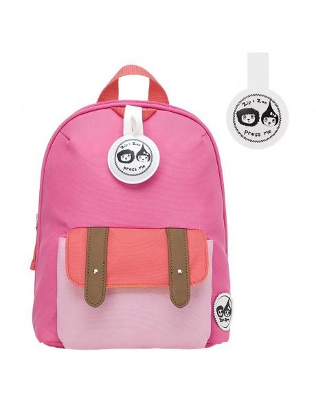 Escolares - Mochila Zip & Zoe Mini Pink Colour Block - 2