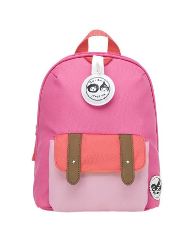 escolares - Mochila Zip & Zoe Mini Pink Colour Block - 0