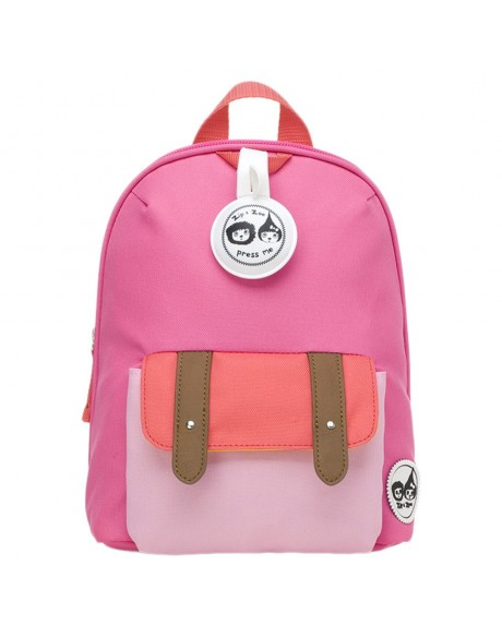 Escolares - Mochila Zip & Zoe Mini Pink Colour Block