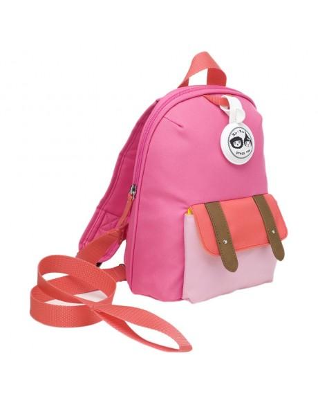 Escolares - Mochila Zip & Zoe Mini Pink Colour Block - 3