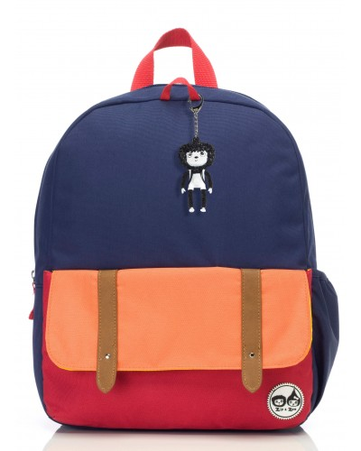 escolares - Mochila Zip & Zoe Junior Navy Colour Block - 0