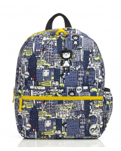 escolares - Mochila Zip & Zoe Junior City Print - 0