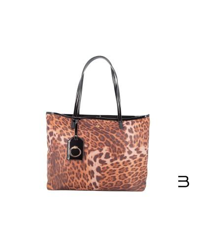 tote-bags - Shopping Bag Lorraine 002 Leopard de Cavalli Class - 1